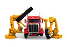 American truck assembly line Royalty Free Stock Photos