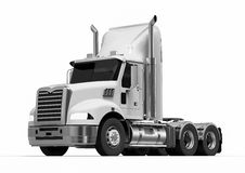 American Truck. 3D render image representing an white american truck Stock Photo