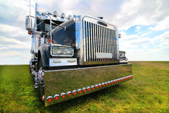 American truck in field Stock Photos