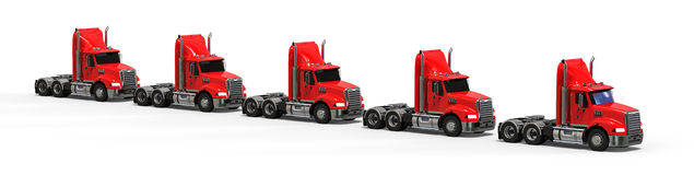American Truck Fleet Royalty Free Stock Image