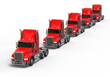 American Truck Fleet Royalty Free Stock Photography