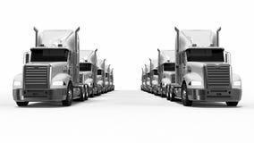 American Truck fleet Stock Image