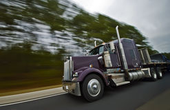 American truck motion blur. Motion Blur on an American Highway Stock Images