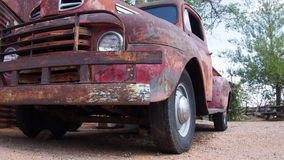American truck. On route 66 royalty free stock photos