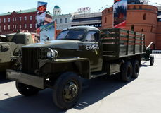 American truck Studebaker US6 at the exhibition Weapons of Victory. Stock Photos