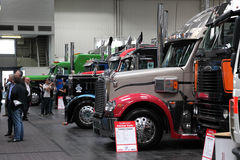 American Trucks at Exhibition Royalty Free Stock Photography