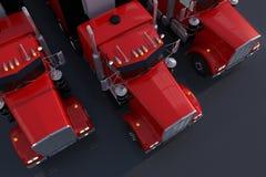 American Trucks Parking Stock Photo