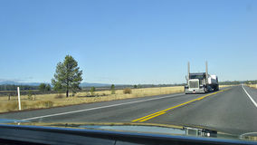 American Trucks. American truck, on the highway Oregon Stock Images