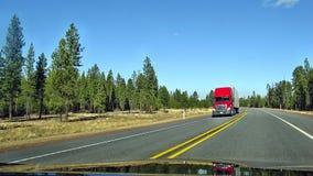 American Trucks. American truck, on the highway Oregon Stock Photography