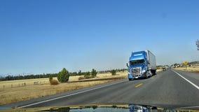 American Trucks. American truck, on the highway Oregon Royalty Free Stock Photos