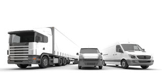 American Trucks. Vehicles for the transport of goods Stock Photography