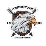 American True Spirit Emblem Royalty Free Stock Photos