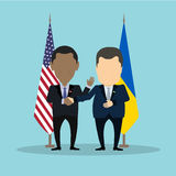 American and ukrainian politicians. royalty free illustration