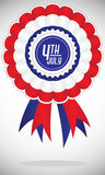American United States 4th of July Badges. Banner that can be used on 4th of July celebration royalty free illustration