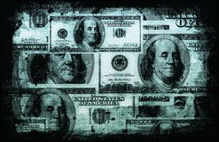 American US Dollars Currency Abstract. Background stock illustration