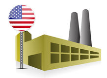 American US Industrial building factory and power Royalty Free Stock Images