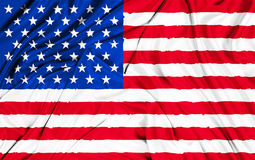American USA fabric flag, stars and stripes Royalty Free Stock Photography