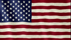 American USA flag. Closeup of the american USA flag flapping in the wind, stars and stripes, united states of america royalty free illustration