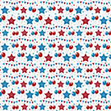 American USA flag seamless patterns. Independence Day, July 4 concept, repeating texture, endless background. Vector Stock Photo