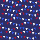 American USA flag seamless patterns. Independence Day, July 4 concept, repeating texture, endless background. Vector Stock Images