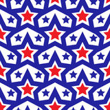 American USA flag seamless patterns. Independence Day, July 4 concept, repeating texture, endless background. Vector Royalty Free Stock Image