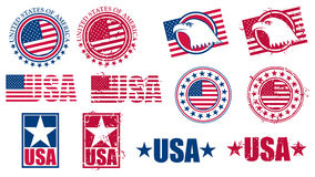 American USA Flag Stamps royalty free illustration