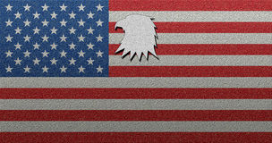 American USA flag with texture bold eagle shape. American USA flag with texture bold eagle Royalty Free Stock Photos