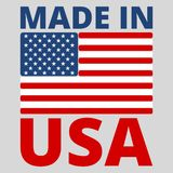 American USA Made text design with the American flag Stock Photography