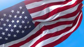 American USA waving flag 4K.