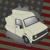 American van Royalty Free Stock Images