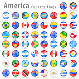 American Vector flag Button Set Royalty Free Stock Photo