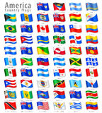 American Vector Waving flag Set Stock Photo