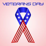 American veterans day celebration in americal colors eps10 Stock Image