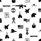 American veterans day celebration seamless pattern Royalty Free Stock Images