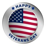 American veterans day logo, realistic style vector illustration