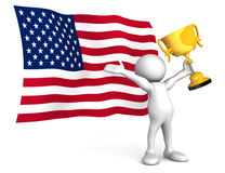 An American Victory Royalty Free Stock Photo