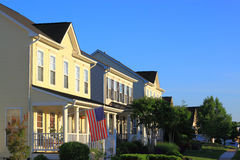 American Houses Royalty Free Stock Photography