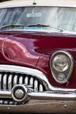 American vintage car, close-up of front detail Stock Photography
