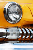 American Vintage Car, Close-up of Front Detail Royalty Free Stock Photography