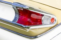 American vintage car, rear view Royalty Free Stock Photo