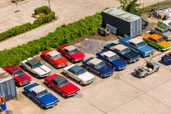 American vintage cars on the parking in Berlin, Germany Stock Image