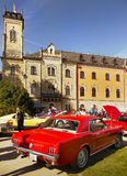 American Vintage Classic Cars Parade Royalty Free Stock Images