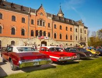 American Vintage Classic Cars Parade Royalty Free Stock Image