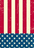 American vintage flag. An american grunge flag for a background of a poster Royalty Free Stock Image