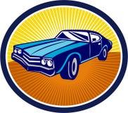American Vintage Muscle Car Rear Retro Stock Photos