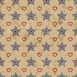 American vintage seamless pattern Royalty Free Stock Photography