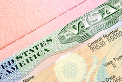 American visa Royalty Free Stock Photo