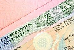 American visa. In the passport Royalty Free Stock Photo