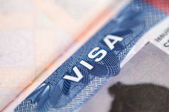 American visa Stock Photo