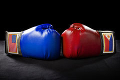 American vs Filipino Boxing Stock Photo